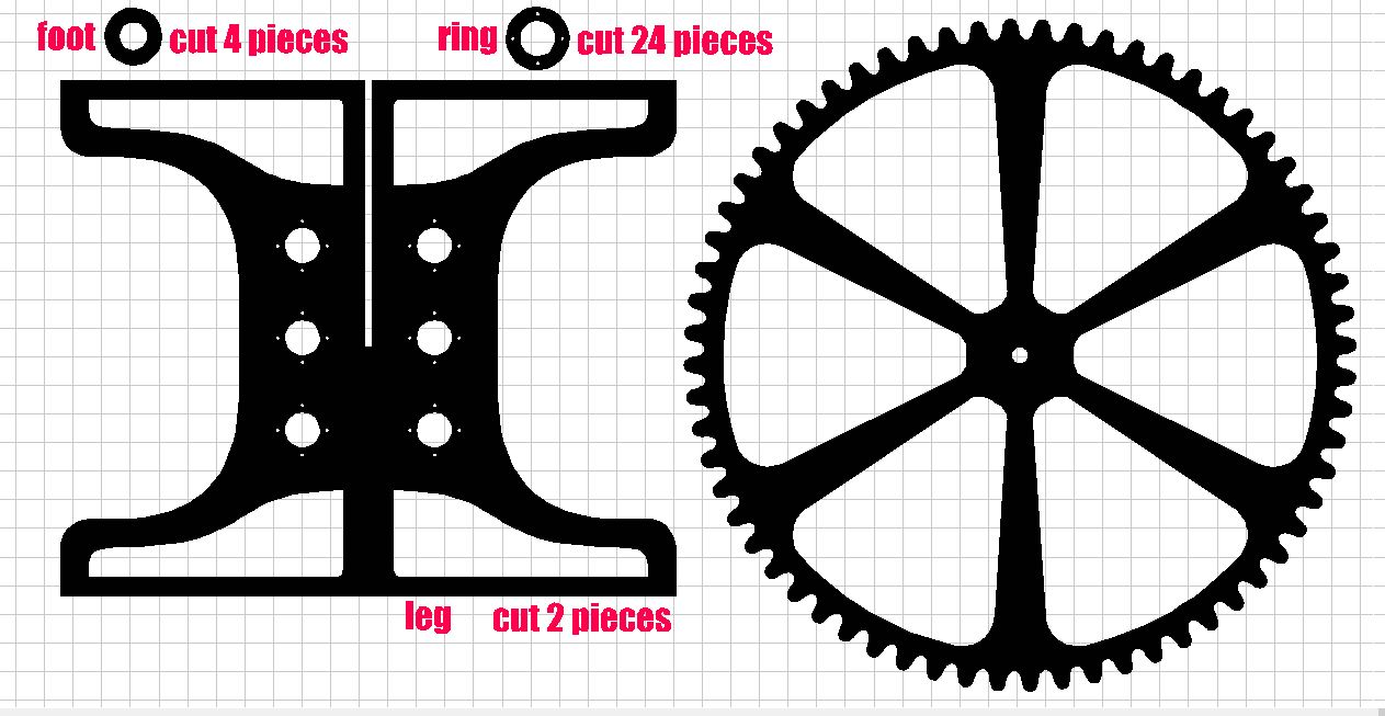 Mountain bike dxf file for cnc cutting for plasma laser or water jet